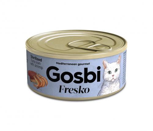 FRESKO CAT STERILIZED TUNA FILLET WITH SHRIMPS