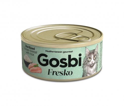 FRESKO CAT STERILIZED CHICKEN BREAST WITH RICE