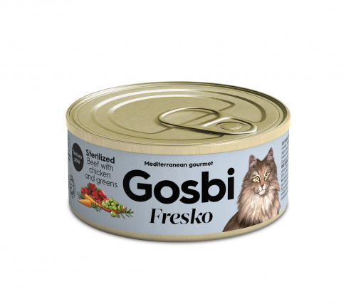 FRESKO CAT STERILIZED BEEF CHICKEN & GREENS