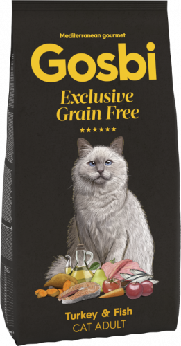 GOSBI CAT EXCLUSIVE GRAIN FREE ADULT TURKEY & FISH