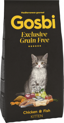 GOSBI CAT EXCLUSIVE GRAIN FREE KITTEN CHICKEN & FISH